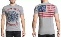 American fighter by affliction hoody air raid veste de survêtement gris//noir