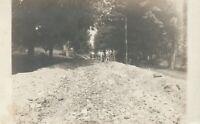 Road Construction Crew RPPC Rutland Vermont—Rare Antique Occupation Photo 1909