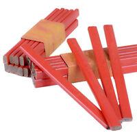 10x175mm Tischler Bleistift Schwarz Blei Für Bauherren Tischler Holzarbeit Hobby