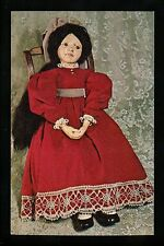 Dolls postcard Named Sad Marie Orillion UFDC National Convention 1977 Red Dress
