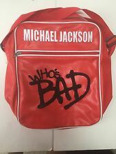 MICHAEL JACKSON WHOS BAD RED VINYL BAG Brand New With Tags