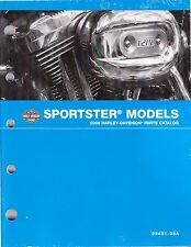2008 Harley Sportster 883 1200 XL883 XL1200 Parts Part Manual Catalog 99451-08A