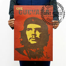 1828 Map World Che Guevara Red Vintage Retro Wall Art Home Office Poster 20x14""