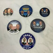 Obama/Biden Campaign Buttons Lot of 6