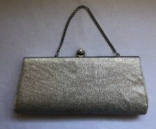 "Vintage Silver Evening Purse Clutch Handbag 5"" Tall"