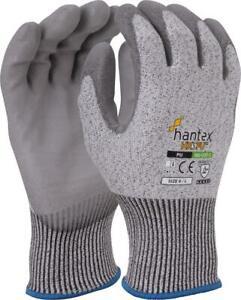 Hantex® HX5PU Cut Resistant 5 Gloves Flexible Light Weight PU Coated HPPE Fibre