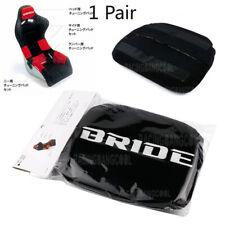 1 Pair Jdm Bride Black Head Tuning Pad For Head Rest Cushion Bucket Racing Seat