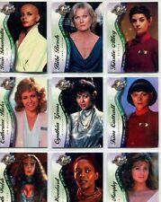 Star Trek Cinema 2000 Female Guest Stars 9 Card Chase Set F1-F9 (UK post only)
