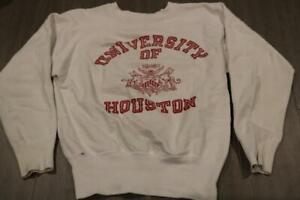 VINTAGE 50s CHAMPION RUNNING MAN UNIVERSITY OF HOUSTON SWEATSHIRT 60s USA S RARE