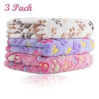 3 Pack Puppy Blanket for Pet Cushion Small Dog Cat Bed Soft Warm Sleep Mat