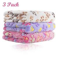 3Pack Puppy Blanket for Pet Cushion Small Dog Cat Bed Soft Warm Sleep Mat