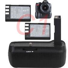 Shutter Battery Grip for Nikon D40 D40X D60 D5000 D3000 + 2 EN-EL9 SLR Camera