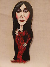 RED DRESSED MORTICIA THE ADAMS FAMILY LARGE FRIDGE MAGNET.NEW.