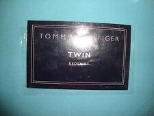 NEW TOMMY HILFIGER TRINA AQUA TWIN  BED SKIRT