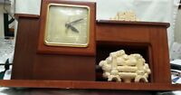 Clock Mantle Shelf MidCentury United Clock Corp Brooklyn Mdl 420 Fireplace Vtg
