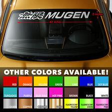 "MUGEN HONDA Windshield Banner Vinyl Long Lasting Premium Decal Sticker 40""x5"""