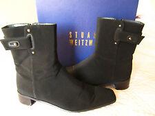 Stuart Weitzman ladies black fabric dress boots sz 8.5 $299 1.5 inch heels