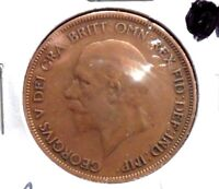 CIRCULATED, F IN GRADE, 1928 LARGE PENNY UK COIN! (22615)