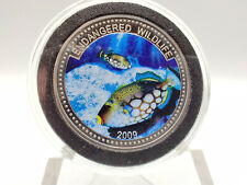 2009 Republic of Palau Endagered Wildlife Series Colorized 1 Dollar Coin