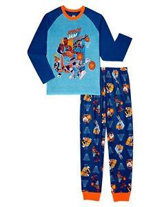 Space Jam A New Legacy 2 Boys Pajamas Size 4-12 Shirt Pants Set Tune Squad Girls