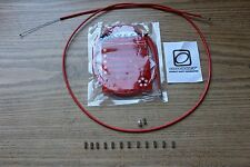 Two Brake Cable & Housing Kit Odyssey Slic Kable Red BMX Gyro MTB & Ferrules