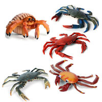 Pagurian Sally Crab Blue Crab Model Ocean Animal Figure Collector Decor Toy Gift