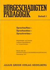 Wollmann, Sprachaufbau Sprachausbau Sprachverbau Hörgeschädigte-Pädagogik, 1977