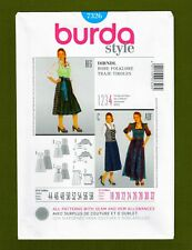 German Dirndl Folklore Sewing Pattern~Top Dress Apron (Sizes 18-32) Burda 7326