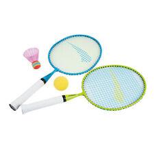 Federball Set für Kinder Schläger Badminton Softball Hudora