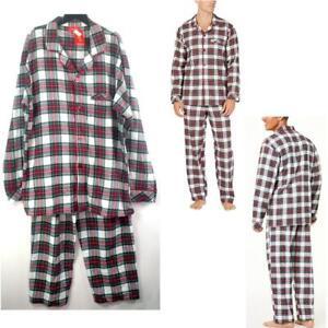 Family PJ Men 2 pc Cotton Flannel Pajama Set Stewart Plaid Choose Size New