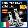 H4/9003/HB2 Lampade A Led Per Auto Moto 6000K Fari Luce Bianca Lampadine