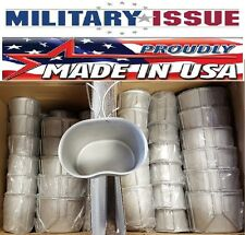 Military Issue Stainless Steel CANTEEN CUP 1qt Canteen W/Butterfly Handles NEW!
