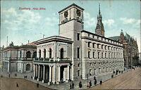 Hamburg Postkarte alte color AK gelauf. 1915 Die neue Börse Adolphsplatz Gebäude