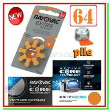 batterie per apparecchi acustici 13 rayovac extra advanced 64 pile per protesi