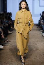 BNWT Massimo Dutti Catwalk Premium Mustard Beige Linen Safari Jacket Small