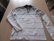 Pull - blanc et noir - taille 42 (L) - Armand THIERY - neuf