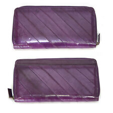 Genuine Eel Skin Leather Wallet Coin Purse wallet zippered zipper zip Around