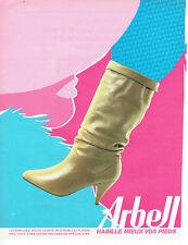 Publicité Advertising 098  1983   Arbel   botte courte  chaussures