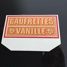 Étiquettes Ancien LU Habillage Boîte Lefèvre Utile Gaufrette Vanille Label