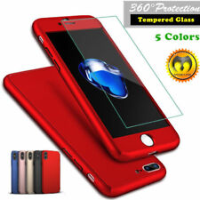 iPhone 7 Red 360° Shockproof Hybrid Case Cover+Screen Protector New