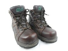 MACK Boots Work Safety Hiking Hunting Brown Leather Steel Toe Mens Sz 7