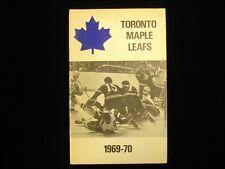 1969-70 Toronto Maple Leafs Hockey Media Guide