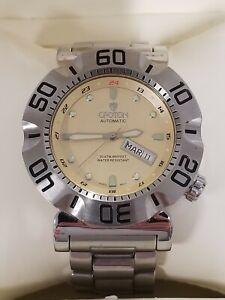 45.5 Mm Swiss Croton Auto 25j  ETA 2836-2 SS Wristwatch