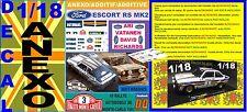 ANEXO DECAL 1/18 FORD ESCORT RS 1800 ROTHMANS A.VATANEN R.MONTECARLO 1981 (01)