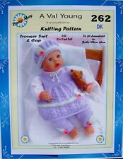 """DOLLS KNITTING PATTERN 18""""-19""""inch Annabell  doll No. 262  Val Young"""