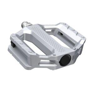New Shimano PD-EF202 Aluminum Trekking Casual City Platform Pedal Set - Silver