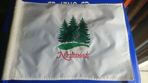 Northwood GOLF COURSE Embroidered Golf FLAG-- White