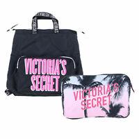 Victoria's Secret Backpack Packable Book Bag Travel Zip Closure Adjustable Strap