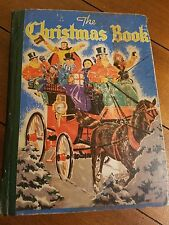 The Christmas Book Childrens Stories Customs Puzzles Hymns Whitman Publishg 1940