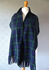 Black Watch Tartan shawl green blue plaid stole wrap blanket scarf unisex gift